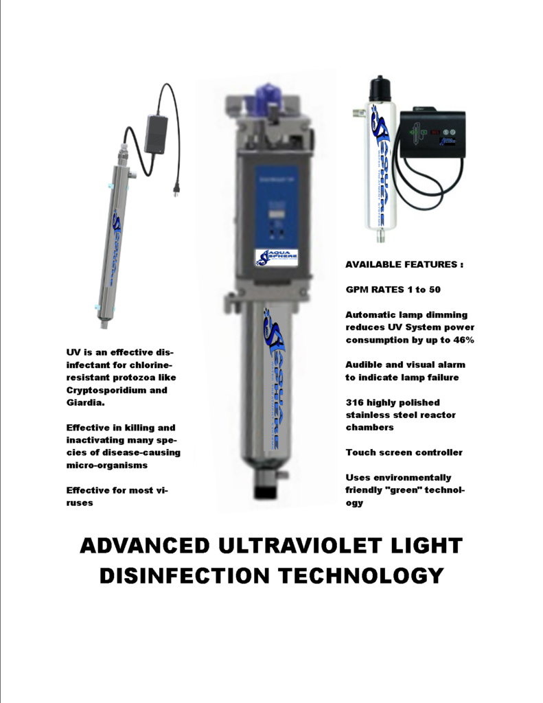 ASI Ultraviolet lights for water disinfection